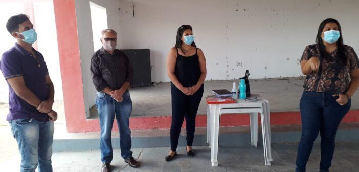 EQUIPE DE VIGILÂNCIA SANITÁRIA SE REÚNE COM COMERCIANTES NO DISTRITO DE BARRA DO TARRACHIL